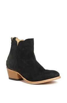 $309, Black Suede Ankle Boots: H by Hudson Mistral Suede Bootie Black 36. Sold by Nordstrom. Click for more info: https://lookastic.com/women/shop_items/45574/redirect