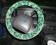 CHOOSE weed COLOR steering wheel cover tailgate festival road trip  hemp 420 weed fest  marijuana pot leaf maryjane stripper exotic dance
