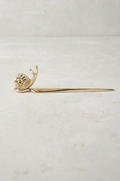 Snail letter opener