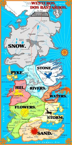 Westeros Bastard Map                                                                                                                                                      Mais