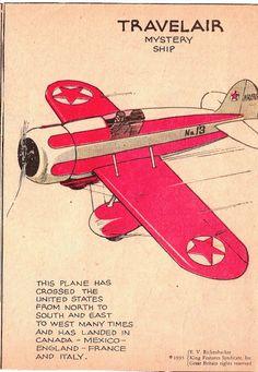 Travelair Mystery Ship racing airplane