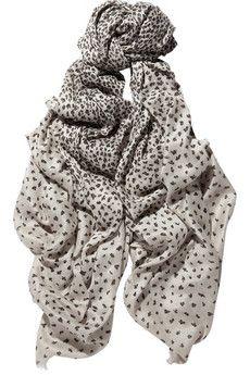 Mulberry | Animal-print woven scarf | NET-A-PORTER.COM