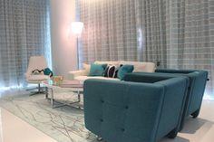 Miami apartment. Blue vibe.