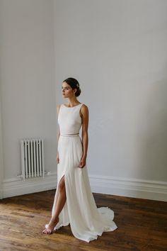 Alexandra Grecco Bride - Ava Crop Top & Arlington Skirt