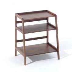 Kay+Stemmer have designed a new version of the popular Agnes shelves. Agnes side table is a three-shelf version, ideal as a beside table or for small hallways. Vintage Furniture, Home Furniture, Modern Bedside Table, Wooden Side Table, Side Tables, Wood Table, Long Shelf, Small Hallways, Glass Top Coffee Table