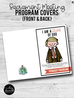 """""""I am a Child of God"""" Sacrament Meeting Program Covers- Full COLOR. Eight different designs. Primary Program, Programming, Printables, God, Children, Cover, Dios, Young Children, Boys"""