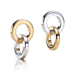 Tiffany Interlocking Silver Earrings