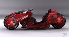 It's always so nostalgic to see this  concept Motorcycle.  Akira was one of the first anime I remember watching!
