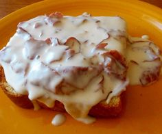 Creamed Chipped Dried Beef On Toast Or Waffles Recipe - Genius Kitchen Cream Chipped Beef Recipe, Creamed Chipped Beef, Creamed Beef, Creamed Corn, Dried Beef Recipes, Meat Recipes, Cooking Recipes, Chip Beef Gravy