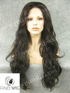 Lace Wig Wavy Dark Brown Long Wig. New Style Wig N12-4. On line Wig Shop. Drag Wigs. http://findwig.com/lace-wig-wavy-dark-brown-long-hair.html