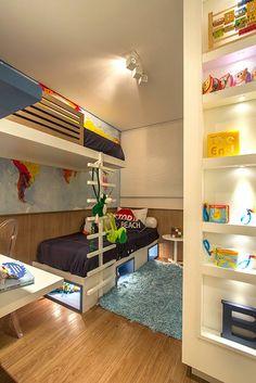 Dormitório do apartamento de 2 dormitórios do HomeClub Guarulhos