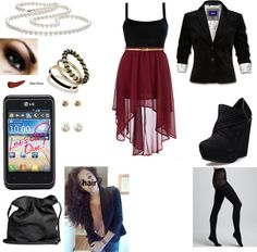 """""""work outfit or club outfit"""" by domonique-668 on Polyvore"""