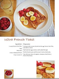 Ultra French Toast with Forever Lite Ultra #ForeverTreats
