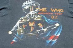 Vintage 1982 The Who Concert Tour Black T Shirt S/M
