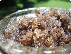 A sugar and coffee scrub? Yum. Coffee not only tastes good but apparently is good for toning and tightening your skin!