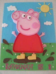 peppa pig cake for my great-niece's birthday xx Peppa Pig Birthday Cake, Birthday Cake Girls, 2nd Birthday, Birthday Ideas, Carnival Birthday Parties, Pig Party, Birthdays, Peppa Big, Mad