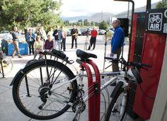 New Bike Den at the Lewis & Clark Transfer Center