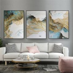 Frames On Wall, Framed Wall Art, Canvas Wall Art, Framed Canvas, Canvas Canvas, Wall Decor Pictures, Living Room Pictures, Decoration Originale, Painting Frames