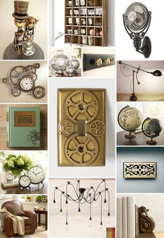 steam punk for the home  http://lovepinkstilettos.com/tag/steampunk/