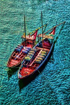 Bâteaux de pêche, Porto - #Portugal #Porto