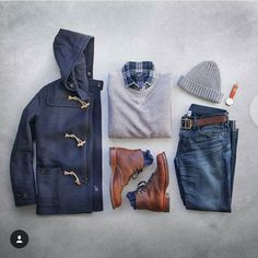 A great selection of items for what feels like 22 outside. Shout out to @thepacman82 for the inspiration.  #menswear #mensweardaily #mensfashion #menstyle #details #weekend #mensfootwear #mountainapproved #drainswear #drainwearsflag #local