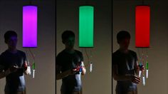 "See more architecture and design movies at www.dezeen.com/movies  The colour of light emitted by this lamp can be controlled using syringes filled with red, green and blue ink.  Russian designer Taras Sgibnev developed the interactive product as a physical expression of the way red, green and blue light are used in digital interfaces to create a full spectrum of different hues.  ""The project represents the process of analogue to digital conversion of colours,"" said Sgibnev. &quot…"