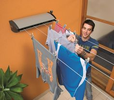 Extenda 4 Indoor/Outdoor Retractable Clothesline | Clotheslines.com