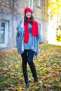 Holiday Poncho | Candidly Julie
