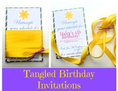 --Click HERE  to see all Tangled-related posts and DIY's--      Yet again, I couldn't keep myself away from making birthday invites, even a...