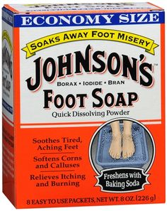 JOHNSON'S Foot Soap Powder. You have to try this foot soak. It leaves your feet ready for your signature pedicure. LOVE IT!😍