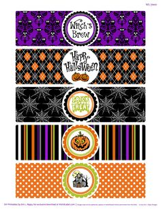 Bump In the Night Halloween Printables Dulceros Halloween, Moldes Halloween, Halloween Treats For Kids, Halloween Labels, Halloween Clipart, Halloween Prints, Halloween Stickers, Halloween Birthday, Halloween Coloring