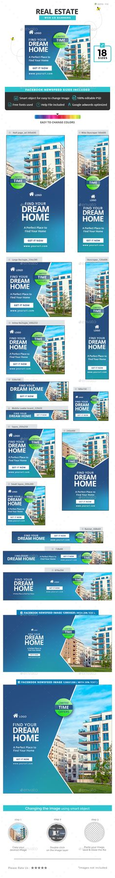 41 Best Real Estate Banner Ads Template Images Real Estate Banner Banner Ads Web Banner