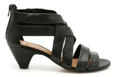 Womens Smart Sandals - Silent Film in Black Leather from Clarks shoes