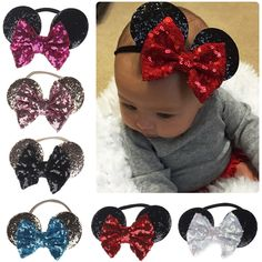 Details about Minnie Mouse Ears Bow Sequin Headband Hair Band Girl Mickey Party Fancy Dress Diy Disney Ears, Disney Mickey Ears, Minnie Mouse Hair Bow, Mickey Mouse Dress, Mickey Mouse Ears Headband, Twisted Hair, Do It Yourself Inspiration, Pink Floyd Dark Side, Diy Accessoires