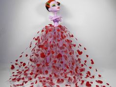 Red Hearts Trash Tutu for Monster High by FreakGearbyHM on Etsy, $5.00