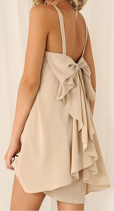 waterfall bow back dress