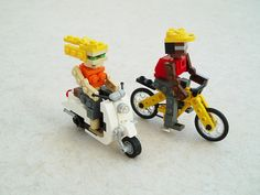Retro Scooter, Bicycle and Riders | Flickr - Photo Sharing!