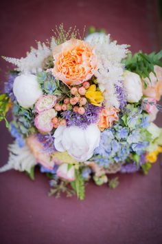 #Bouquet   See more Wedding Inspiration on SMP -  http://www.StyleMePretty.com/california-weddings/orange-county/2014/01/23/downton-abbey-wedding-inspiration-at-the-french-estate/ True Bliss Photography
