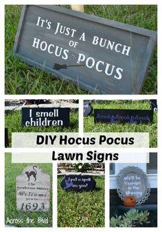 Hocus Pocus Halloween Decor, Casa Halloween, Halloween Blocks, Halloween Camping, Halloween Fairy, Halloween Party Themes, Halloween Signs, Outdoor Halloween, Holidays Halloween