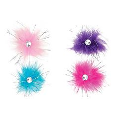 Aria Sparkle Feather Dog Bows