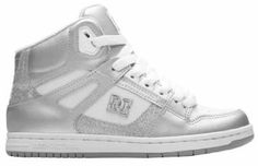 Womens Girls DC Shoes Rebound Hi White/M Silver Skate Shoes Boots: Amazon.co.uk: Shoes & Accessories