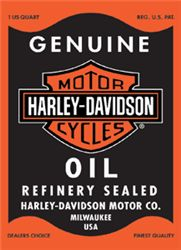 Harley-Davidson Rectangle Oil Tin Sign
