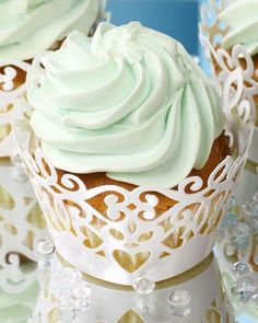 Cupcake Lace. Makes cupcakes look decorative. Great for parties or special occasions!