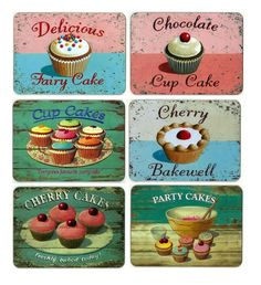 placemats | Martin Wiscombe Set of 6 Cake Placemats [TSEMWI001] - £26.99 : Mollie ...