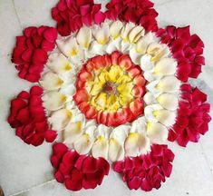 Rangoli Designs Flower, Rangoli Ideas, Rangoli Designs Diwali, Flower Designs, Easy Rangoli, Kolam Designs, Wedding Room Decorations, Diwali Decorations, Festival Decorations