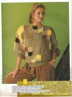 Knitting Stitches, Knitting Socks, Baby Knitting, Knitting Patterns, Crochet Blouse, Knit Crochet, Hand Knitted Sweaters, Knit Fashion, Crochet Clothes