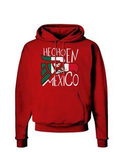 Hecho en Mexico Design - Mexican Flag Dark Hoodie Sweatshirt by TooLoud
