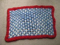 How To Make A Finger Knit Rug - persevere through the talking, it's easy to make.