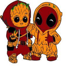 Guardians of the Galaxy Groot as Deadpool SVG Cute Deadpool, Deadpool Pikachu, Deadpool Art, Cute Disney Drawings, Cute Animal Drawings, Cartoon Drawings, Cute Drawings, Cute Disney Wallpaper, Cute Cartoon Wallpapers