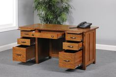 Complete your executive office furniture collection with the simple mission style and exceptional construction of the Coventry Mission Executive Desk from Dutch Amish Furniture, Brown Furniture, Fine Furniture, Furniture Making, Furniture Ideas, Home Office Space, Home Office Design, Office Decor, Craftsman Style Decor